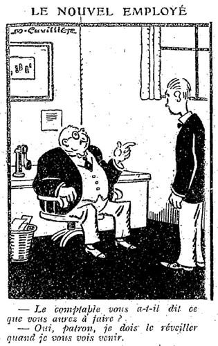 Le Pêle-Mêle 1927 - n°185 - page 9 - Le nouvel employé (G) - 4 septembre 1927