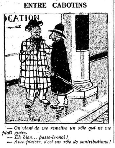 Le Pêle-Mêle 1925 - n°79 - page 10 - Entre cabotins (G) - 23 août 1925