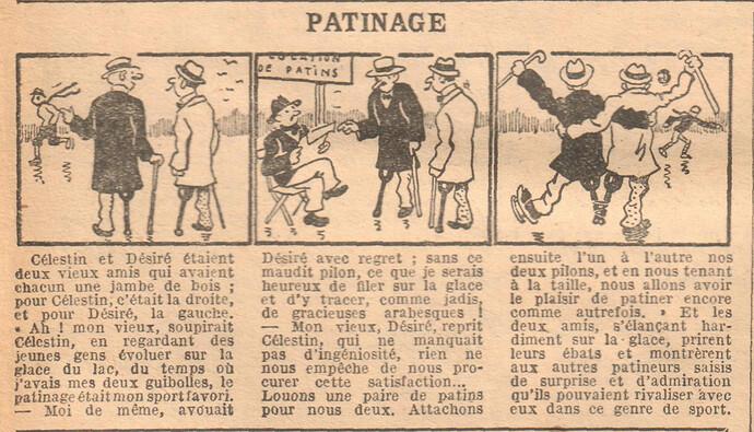 Le Petit Illustré 1929 - n°1265 - page 2 - Patinage - 6 janvier 1929