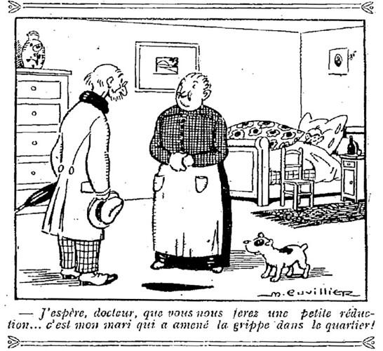 Le Pêle-Mêle 1925 - n°49 - page 16 - J'espère docteur que vous nous ferez une petite réduction (G) - 25 janvier 1925