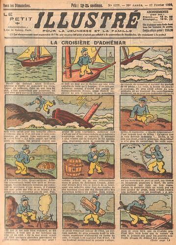 Le Petit Illustré 1929 - n°1271 - page 1 - La croisière d'Adhémar - 17 février 1929