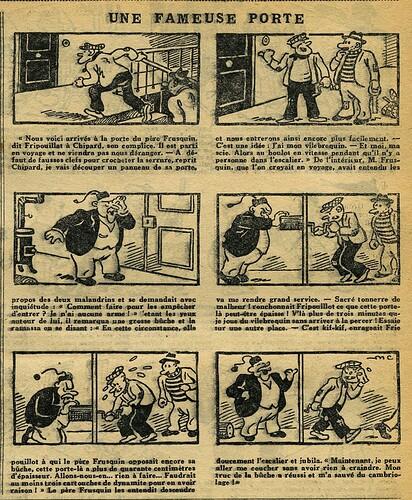 L'Epatant 1934 - n°1348 - page 7 - Une fameuse porte - 31 mai 1934