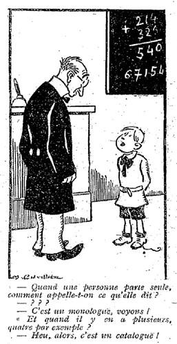 Le Pêle-Mêle 1927 - n°175 - page 3 - Quand une personne parle seule (G) - 26 juin 1927