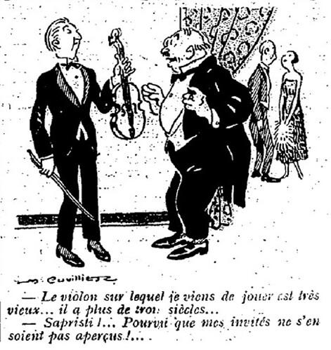 Le Pêle-Mêle 1925 - n°66 - page 11 - Le violon sur lequel je viens de jouer (G) - 24 mai 1925