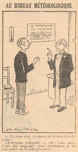 Le Pêle-Mêle 1929 - n°286 - Au bureau météorologique - 11 août 1929 - page 9