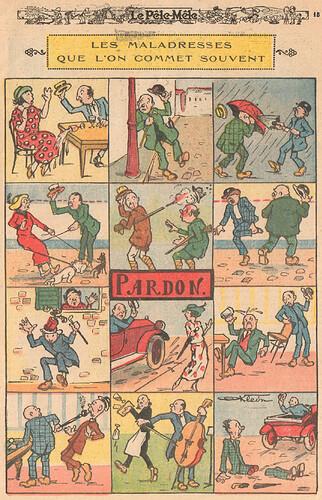 Le Pêle-Mêle 1925 - n°64 - page 15 - Les maladresses que l'on commet souvent - 10 mai 1925