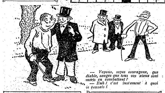 Le Pêle-Mêle 1927 - n°166 - page 7 - Voyons soyez courageux (G) - 24 avril 1927