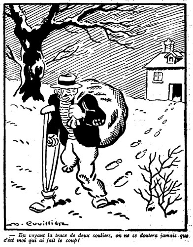 Le Pêle-Mêle 1929 - n°255 - En voyant la trace de deux souliers - 6 janvier 1929 - page 5