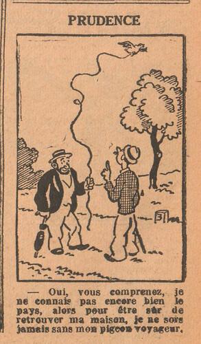 Le Petit Illustré 1929 - n°1300 - page 7 - Prudence - 8 septembre 1929