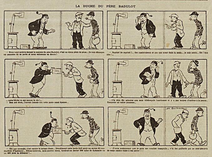 La dépèche du Berry - 1923 - n°69 - page 3 - La buche du père Badulot - 20 mai 1923