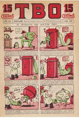 TBO 1937 - n°1041 - El diamante del doctor Truc - 16 juin 1937 - page 1
