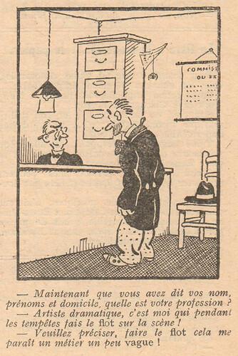 Le Pêle-Mêle 1929 - n°286 - Maintenant que vous avez dit vos noms prénoms et domicile - 11 août 1929 - page 7