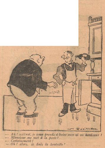Le Pêle-Mêle 1927 - n°196 - page 8 - Ah scélérat je vous prends à boire mon vieux bordeaux - 20 novembre 1927