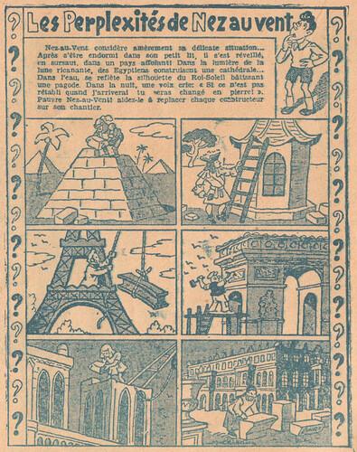 Almanach CV-AV 1946 - REBATIR - page 8 - Les perplexités de Nez au vent