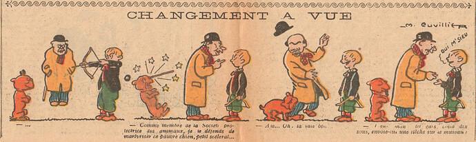 Le Pêle-Mêle 1925 - n°65 - pages 10 et 11 - Changement à vue - 17 mai 1925