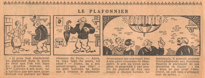 Le Petit Illustré 1929 - n°1285 - page 14 - Le plafonnier - 26 mai 1929