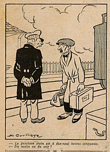 Le Pêle-Mêle 1925 - n°74 - page 7 - Le prochain train - 19 juillet 1925