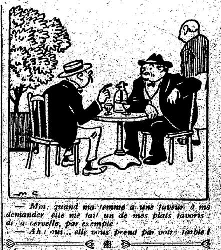 Le Pêle-Mêle 1926 - n°145 - page 11 - Moi quand ma femme a une faveur à me demander (G) - 28 novembre 1926