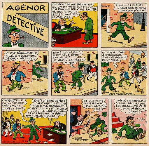 Pat épate 1949 - n°10 - Agénor détective - 6 mars 1949