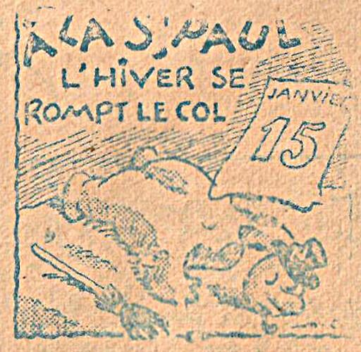 Almanach CV-AV 1946 - REBATIR - page 2 - Proverbe de Janvier