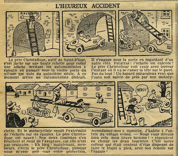 Cri-Cri 1936 - n°947 - page 12 - L'heureux accident - 19 novembre 1936