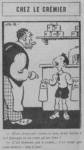 Le Pêle-Mêle 1930 - n°309 - Chez le crémier - 19 janvier 1930 - page 10
