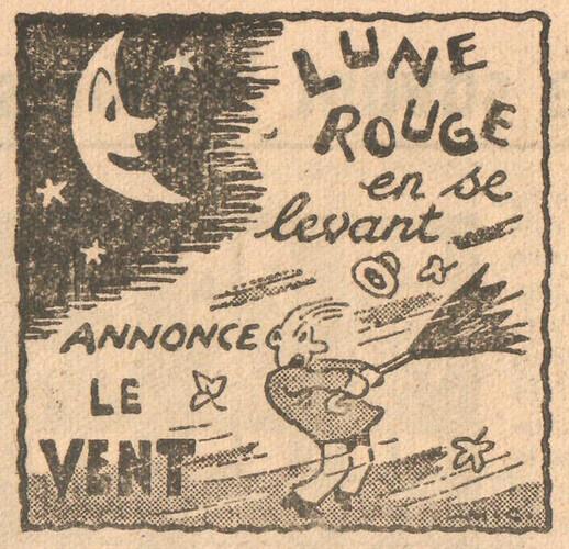 Almanach CV-AV 1946 - REBATIR - page 33 - Proverbe de Septembre
