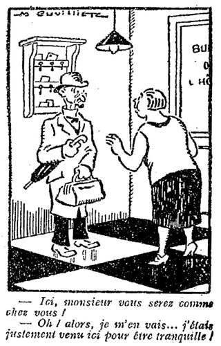 Le Pêle-Mêle 1927 - n°186 - page 9 - Ici monsieur vous serez comme chez vous (G) - 11 septembre 1927