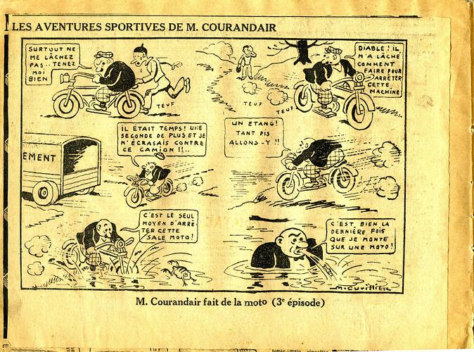 Les mésaventures sportives de M. COURANDAIR (3e épisode)