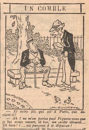 Le Pêle-Mêle 1926 - n°136 - page 11 - Un comble - 26 septembre 1926