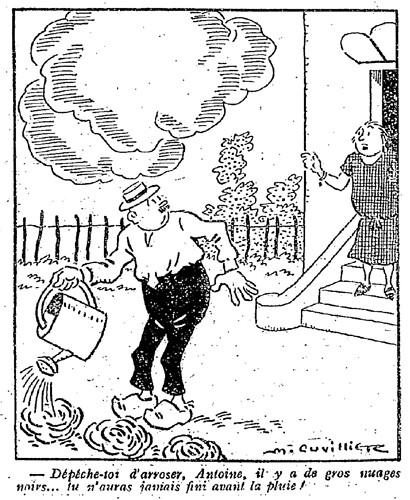 Le Pêle-Mêle 1927 - n°171 - page 3 - Dépêche toi d'arroser Antoine (G) - 29 mai 1927