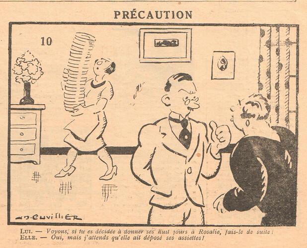 Le Pêle-Mêle 1929 - n°299 - Précaution - 10 novembre 1929 - page 9