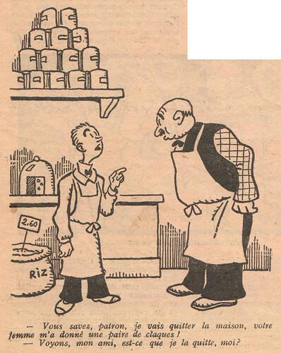 Le Pêle-Mêle 1927 - n°196 - page 3 - Vous savez patron je vais quitter la maison - 20 novembre 1927