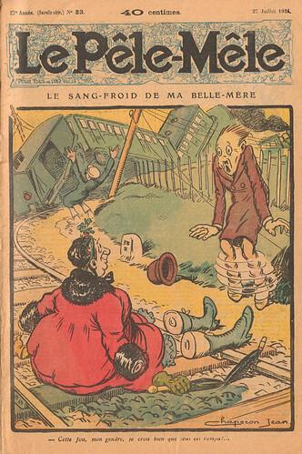 Le Pêle-Mêle 1924 - n°23 - page 1 - Le sang-froid de ma belle-mère - 27 juillet 1924