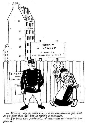 Le Pêle-Mêle 1925 - n°58 - page 8 - M'sieur l'agent venez vite (G) - 29 mars 1925