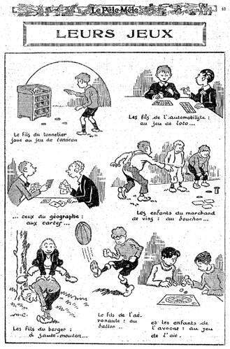 Le Pêle-Mêle 1927 - n°168 - page 15 - Leurs jeux (G) - 8 mai 1927