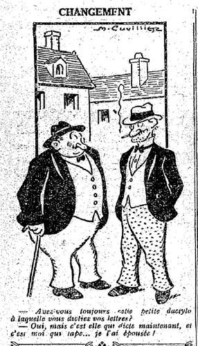 Le Pêle-Mêle 1927 - n°168 - page 10 - Changement (G) - 8 mai 1927