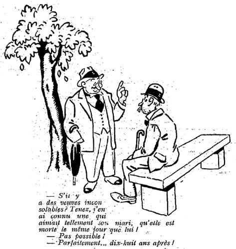 Le Pêle-Mêle 1925 - n°81 - page 3 - S'il y a des veuves inconsolables (G) - 6 septembre 1925