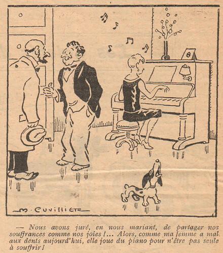 Le Pêle-Mêle 1928 - n°210 - page 16 - Nous avons juré en nous mariant - 26 février 1928