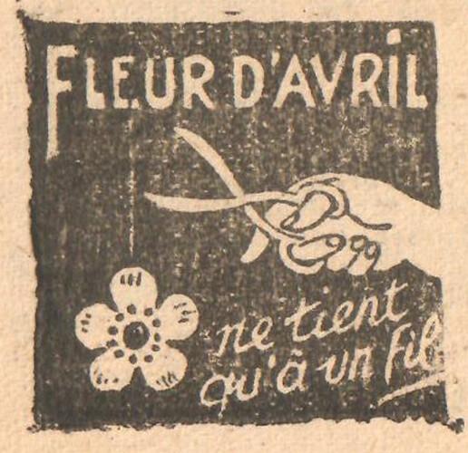 Almanach CV-AV 1946 - REBATIR - page 13 - Proverbe de Avril