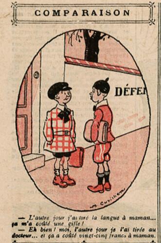 Le Pêle-Mêle 1925 - n°74 - page 10 - Comparaison - 19 juillet 1925