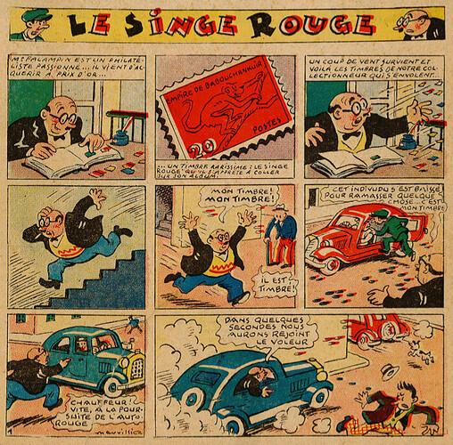 Pat épate 1949 - n°14 - Le Singe Rouge - 3 avril 1949 - page 1