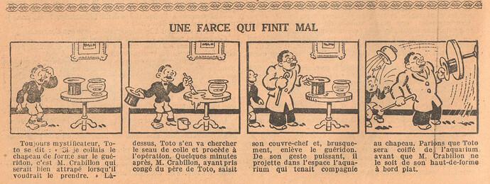Le Petit Illustré 1929 - n°1287 - page 12 - Une farce qui finit mal - 9 juin 1929