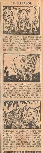Le Petit Illustré 1929 - n°1266 - page 2 - Le parasol - 13 janvier 1929