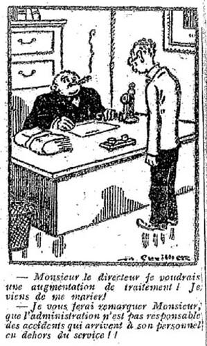 Le Pêle-Mêle 1927 - n°183 - page 6 - Monsieur le directeur, je voudrais une augmentation de traitement (G) - 21 août 1927