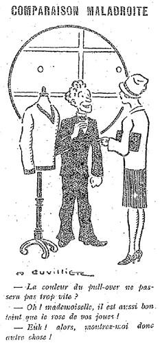 Le Pêle-Mêle 1927 - n°187 - page 8 - Comparaison maladroite (G) - 18 septembre 1927