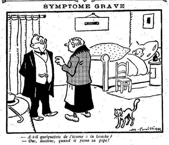 Le Pêle-Mêle 1926 - n°133 - page 14 - Symptôme grave (G) - 5 septembre 1926