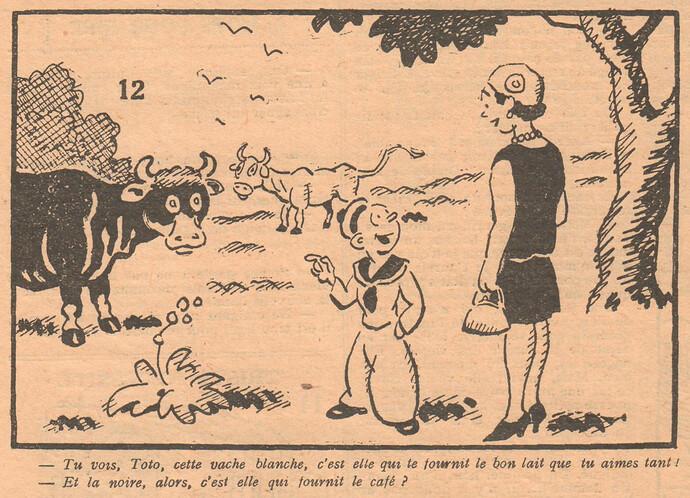 Le Pêle-Mêle 1929 - n°295 - Tu vois Toto cette vache blanche - 13 octobre 1929 - page 10