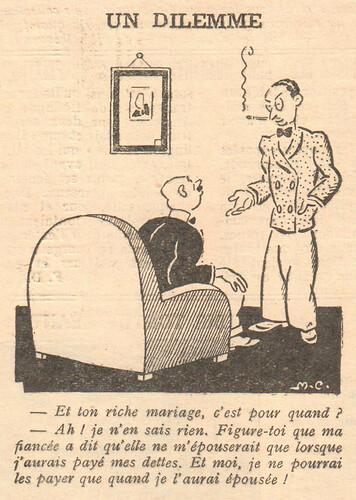Le Pêle-Mêle 1929 - n°272 - Un dilemme - 5 mai 1929 - page 8