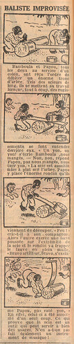 Le Petit Illustré 1929 - n°1274 - page 2 - Baliste improvisée - 10 mars 1929